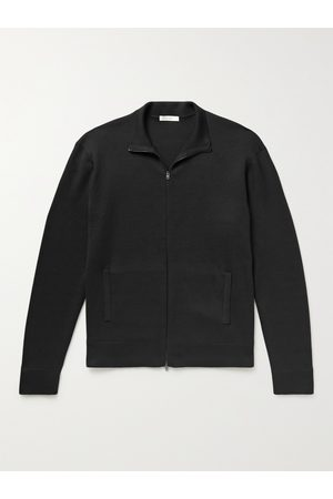 The Row Diletta Wool and Silk-Blend Zip-Up Cardigan