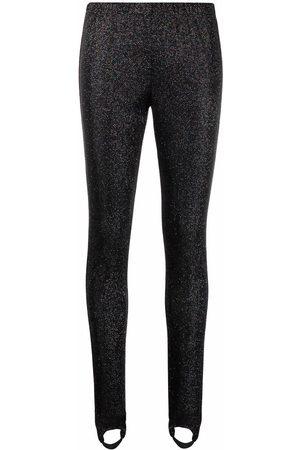 MSGM Metallic-threaded leggings