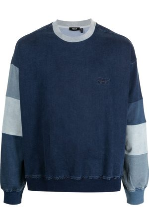 FIVE CM Denim panelled sweatshirt