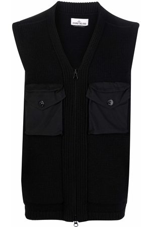 Stone Island Compass-patch knitted cardigan
