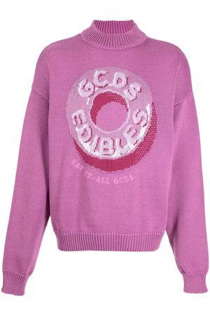 GCDS Candy-print roll neck jumper