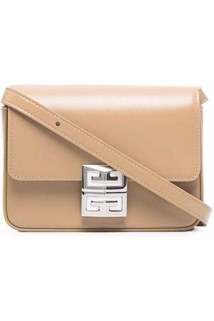Givenchy Logo-buckle leather crossbody bag