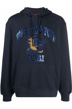 424 FAIRFAX Applique detail hoodie