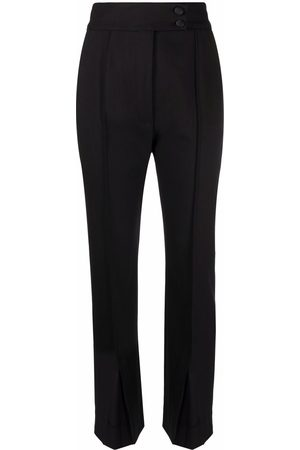 Dolce & Gabbana Women Formal Pants - High-waisted corduroy-detail trousers