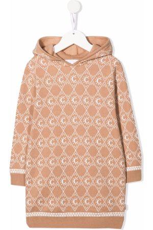 Chloé Monogram-pattern knitted jumper dress