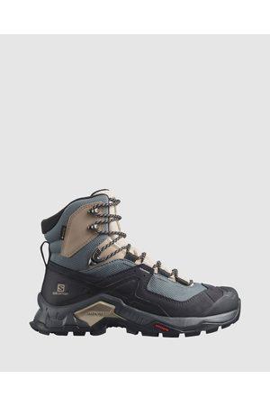 Salomon Women Shoes - Quest Element GTX Women's - Outdoor Shoes (Ebony, Rainy Day & Stormy Weather) Quest Element GTX - Women's