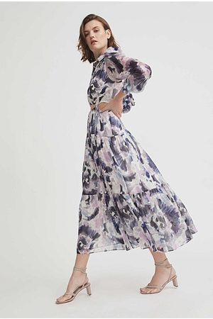 WITCHERY Women Printed Dresses - Cut-Out Print Dress
