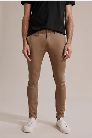 COUNTRY ROAD Men Chinos - Skinny Stretch Chino - Tan