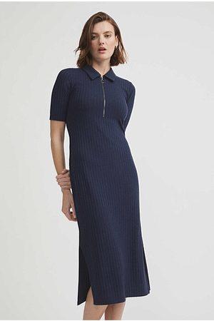 WITCHERY Half Placket Jersey Dress