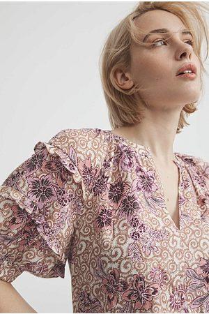 WITCHERY Women Shirts - Print Frill Detail Blouse