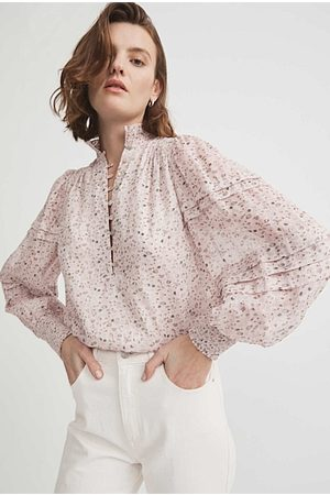 WITCHERY Print Pintuck Blouse