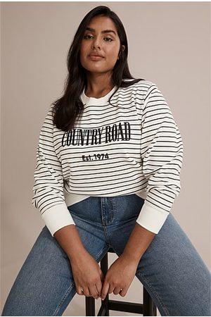 COUNTRY ROAD Women Sweatshirts - Verified Australian Cotton Stripe Heritage Sweat