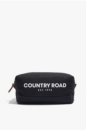 COUNTRY ROAD Organically Grown Cotton Modern Logo Wash Bag - Washed