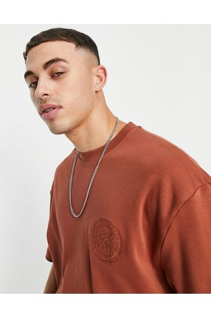 River Island Oversized t-shirt with print in orange