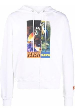 Heron Preston HOODIE SPLIT HERONS ORANGE