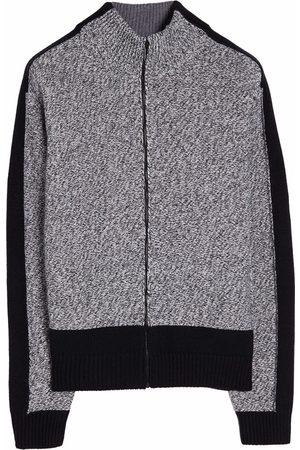 OFF-WHITE Arrows intarsia motif zipped cardigan