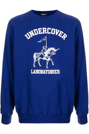 UNDERCOVER Men Sweatshirts - Logo-print cotton sweatshirt