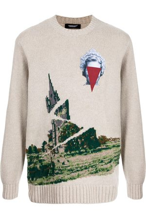 UNDERCOVER Men Sweaters - Intarsia-knit long-sleeve jumper