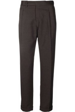 Briglia 1949 Cropped wool tailored trousers