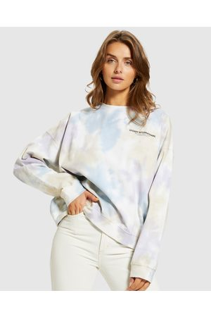 STUSSY Women Jumpers - Breeze Tie Dyed Crew Jumper Lilac