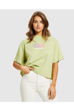 STUSSY Women Short Sleeve - Daisy Boxy T-shirt Pistachio