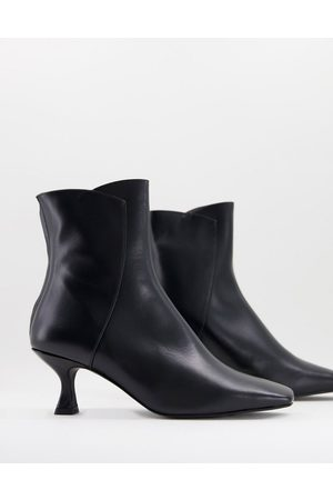 Whistles Wade square toe leather boots in