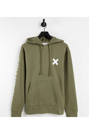 COLLUSION Unisex organic cotton logo hoodie in -Green