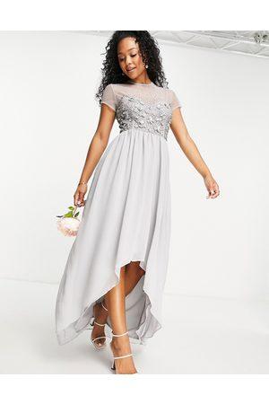 Little Mistress Bridesmaid hand embellished sequin hi-low dress in