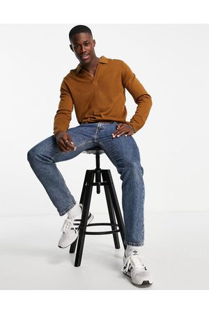 Another Influence Men Cardigans - V neck collar jumper in -Brown