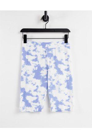 Pieces Legging shorts co-ord in tie-dye-Multi
