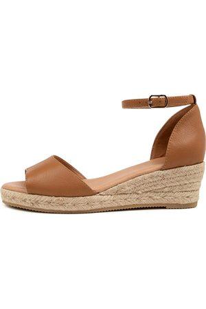 Diana Ferrari Ripps Df Dk Tan Sandals Womens Shoes Casual Heeled Sandals