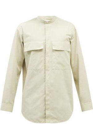 Jil Sander Flap-pocket Poplin Shirt - Mens - Cream
