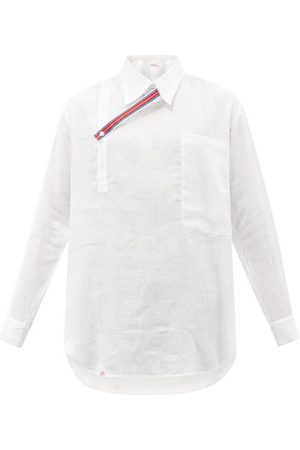 Charles Jeffrey Loverboy Oversized Throat-latch Linen Shirt - Mens