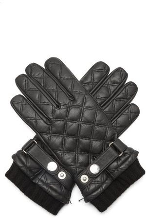 Dents Saltford Quilted Wool-lined Leather Gloves - Mens