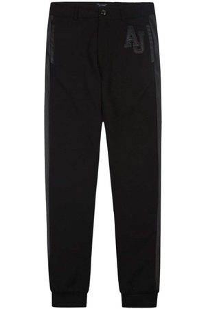 Armani Jeans Leather Logo Classic Fit Joggers
