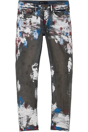 Purple Brand Men Slim - Distressed Five-Pocket Jeans