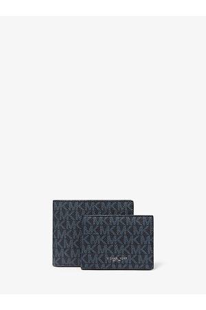 Michael Kors Men Wallets - MK Harrison Logo Billfold Wallet With Passcase - Admrl/plblue - Michael Kors