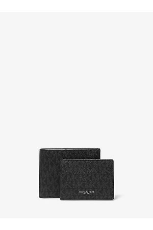 Michael Kors Men Wallets - MK Harrison Logo Billfold Wallet With Passcase - - Michael Kors