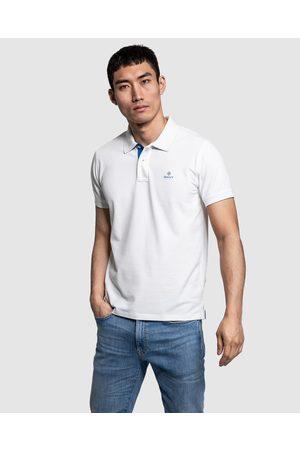 GANT Contrast Collar Pique Rugger - Shirts & Polos (EGGSHELL) Contrast Collar Pique Rugger