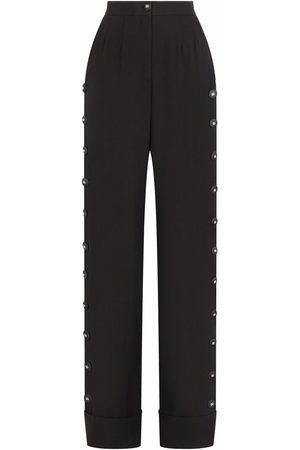 Dolce & Gabbana Button-detail palazzo pants