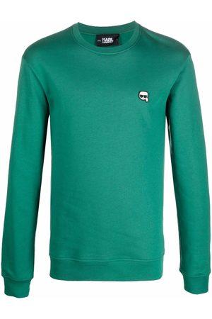 Karl Lagerfeld Ikonik logo-patch sweatshirt