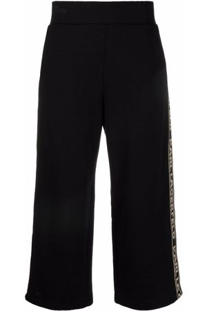 Karl Lagerfeld Logo-tape cropped trousers