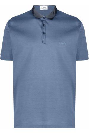 Lanvin Men Polo Shirts - Logo-embroidered polo shirt