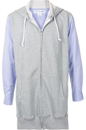 Comme des Garçons Panelled long-sleeve hoodie