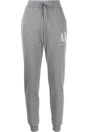 Armani Women Joggers - Logo-print sweatpants