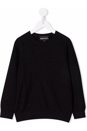 Emporio Armani Horizontal stripe crewneck jumper