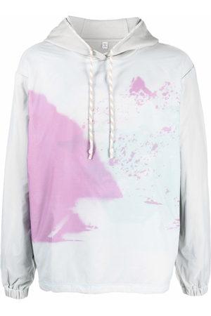 McQ Men Hoodies - Abstract-print cotton hoodie