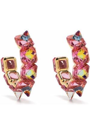 Swarovski Chroma hoop earrings