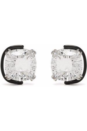 Swarovski Women Earrings - Harmonia cushion cut crystal stud earrings