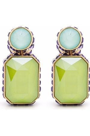 Swarovski Women Earrings - Orbita asymmetrical octagon cut crystal earrings